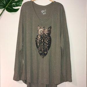 Long sleeve owl tee